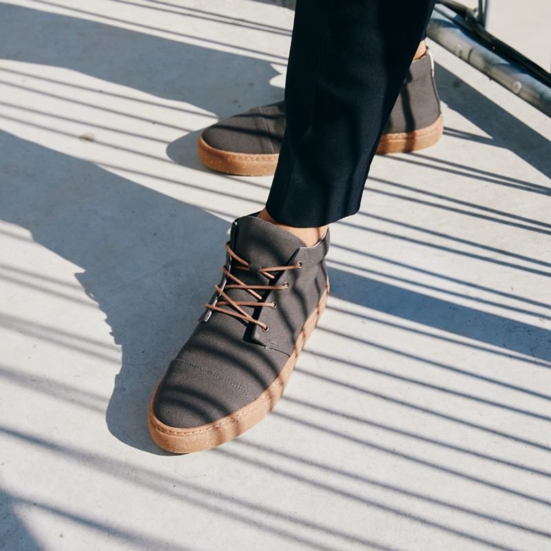 59 anthrazit grau faire sneaker high top