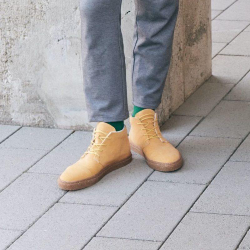 59 gelbe sneaker high top nachhaltig fair vegan