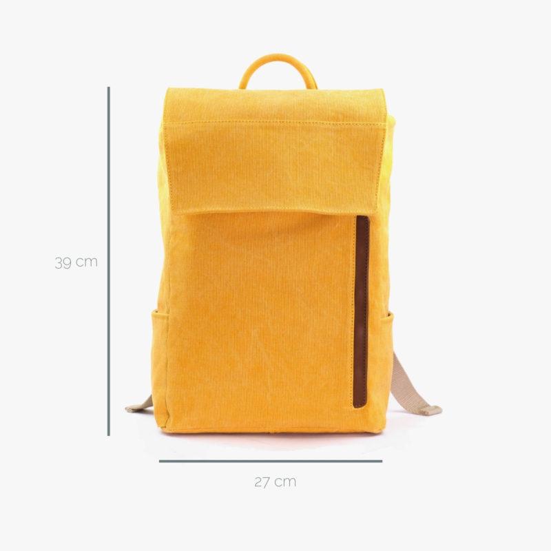 rucksack gelb minimalistisch