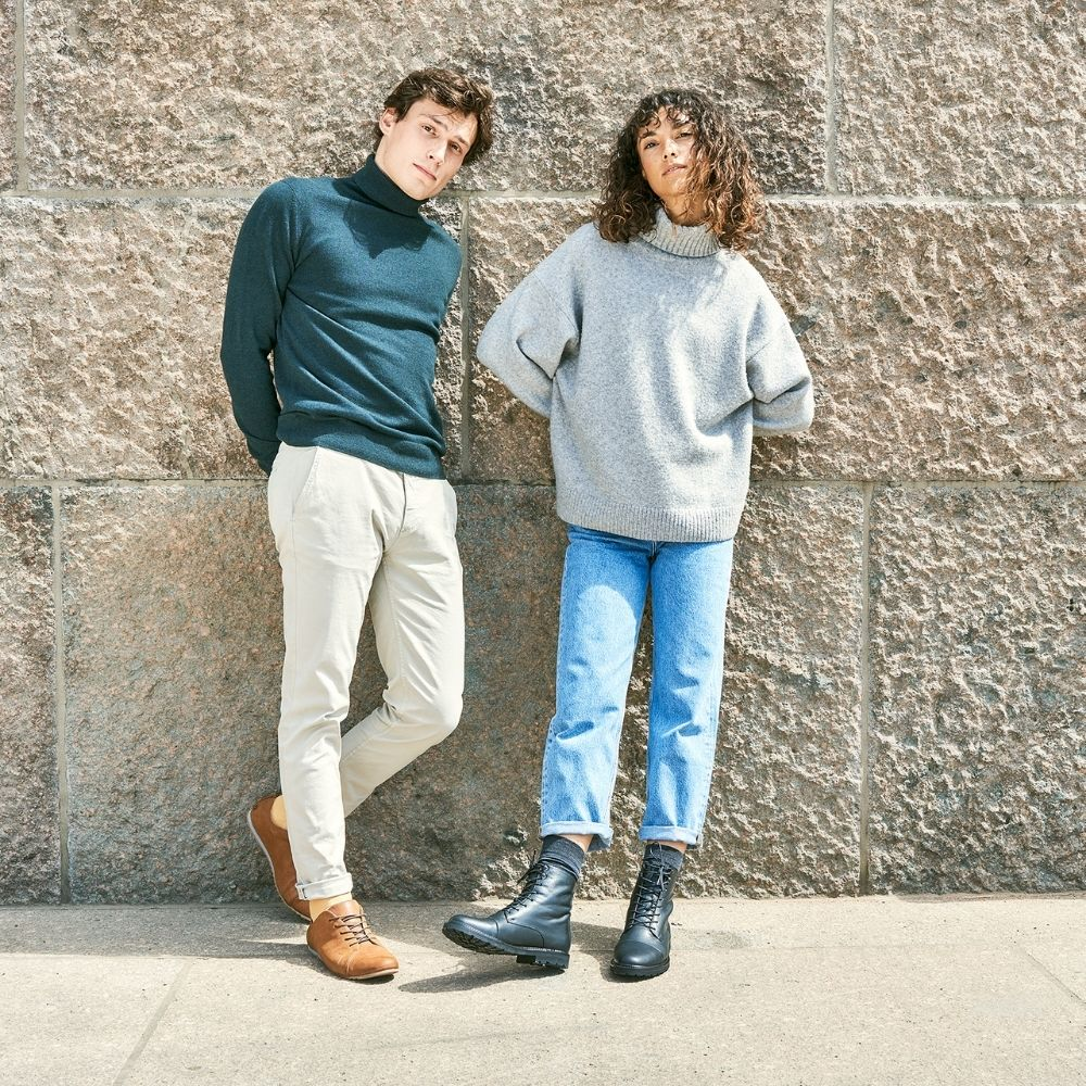 sustainable shoes boots black brown men women