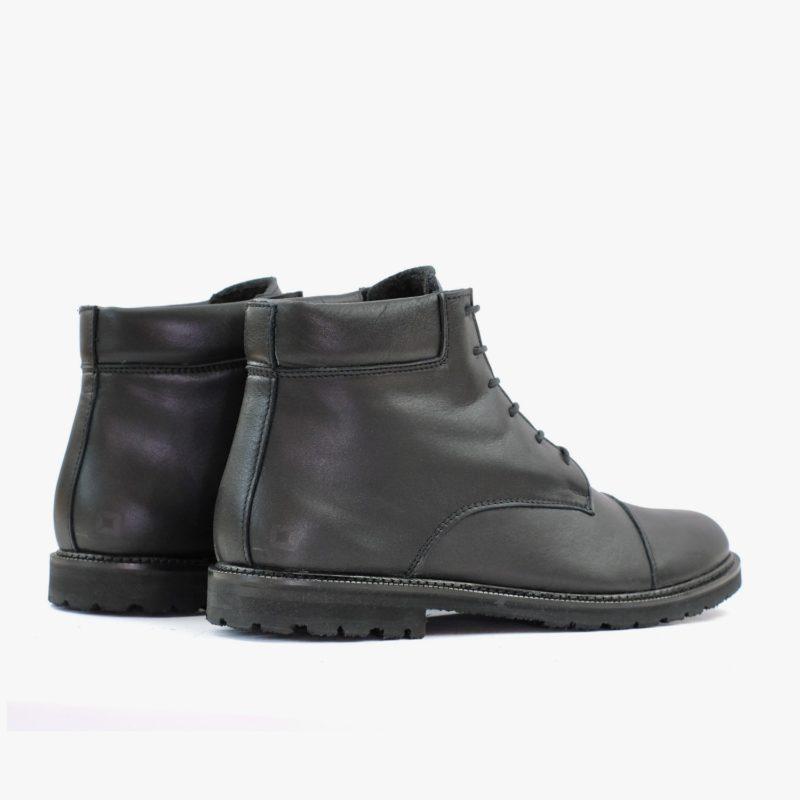 fair produzierte stiefel schwarz leder