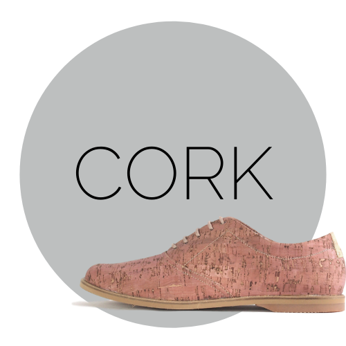 cork shoes pink