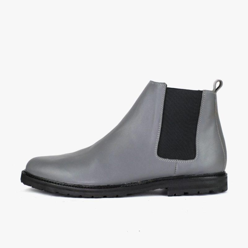 nachhaltige chelsea boots grau