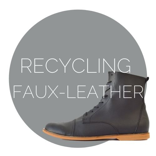 recycling fake leather