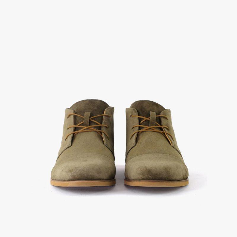 Damen Herren Desert Boots Veloursleder
