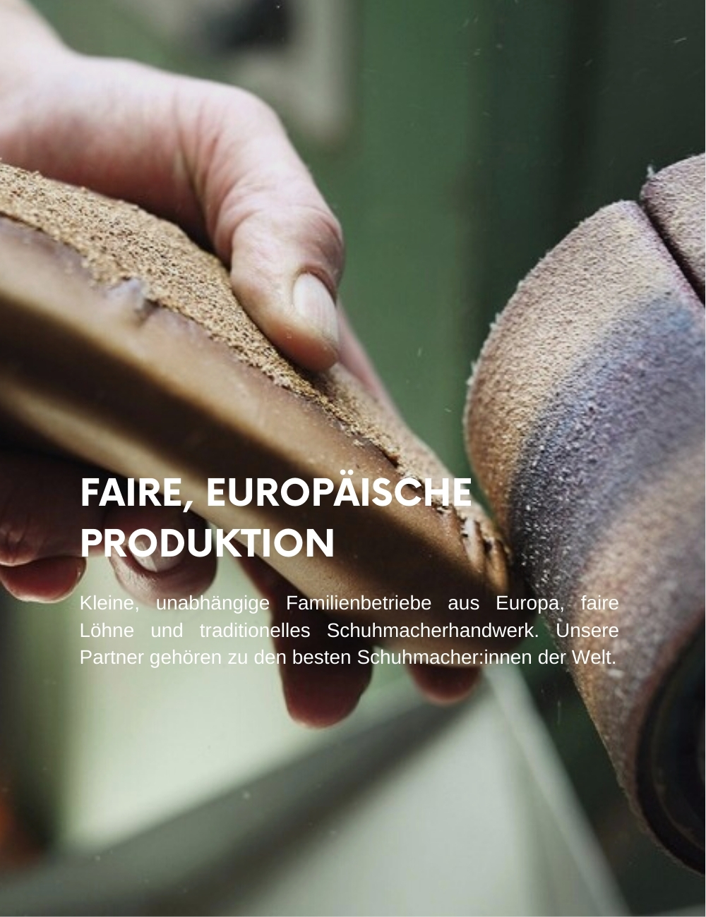 Schuhe Produktion Europa fair nachhaltig