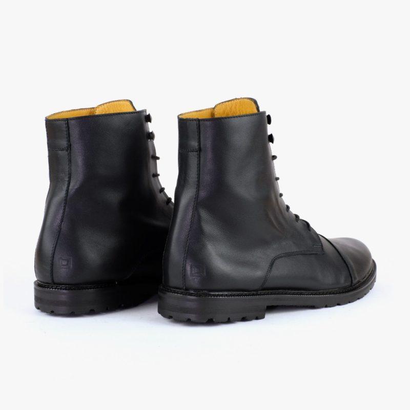 Work Boots schwarz Leder Unisex