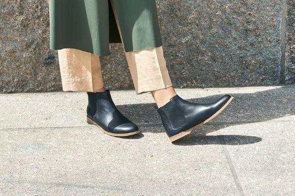 bequeme chelsea boots schwarz damen