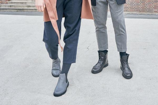 chelsea boots damen grau herren