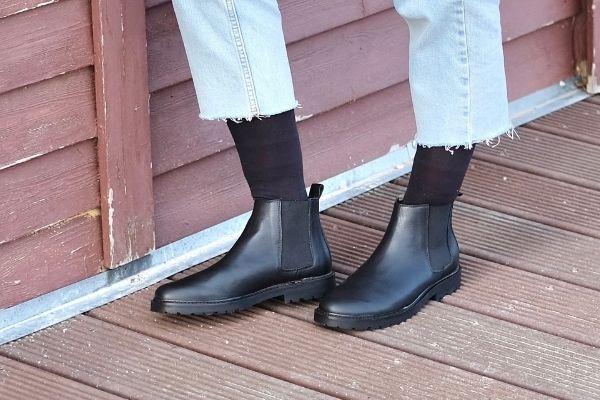 chelsea boots schwarz damen nachhaltig