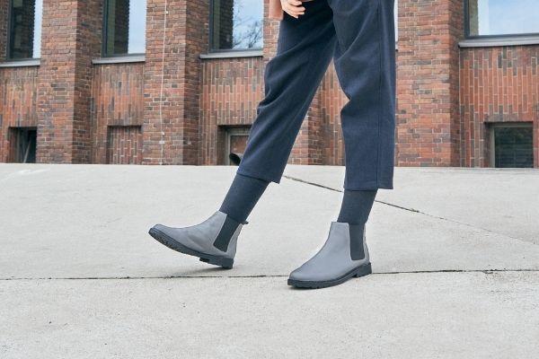 graue chelsea boots damen