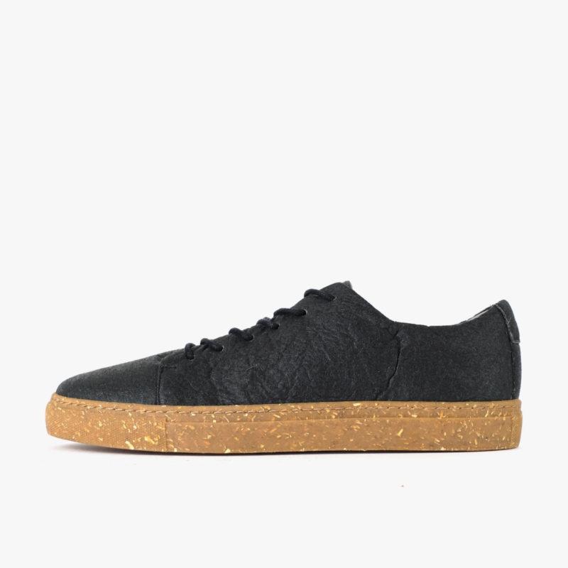 pinatex sneaker schwarz