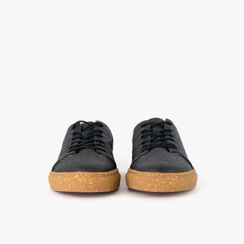 pinatex sneaker schwarz nachhaltig