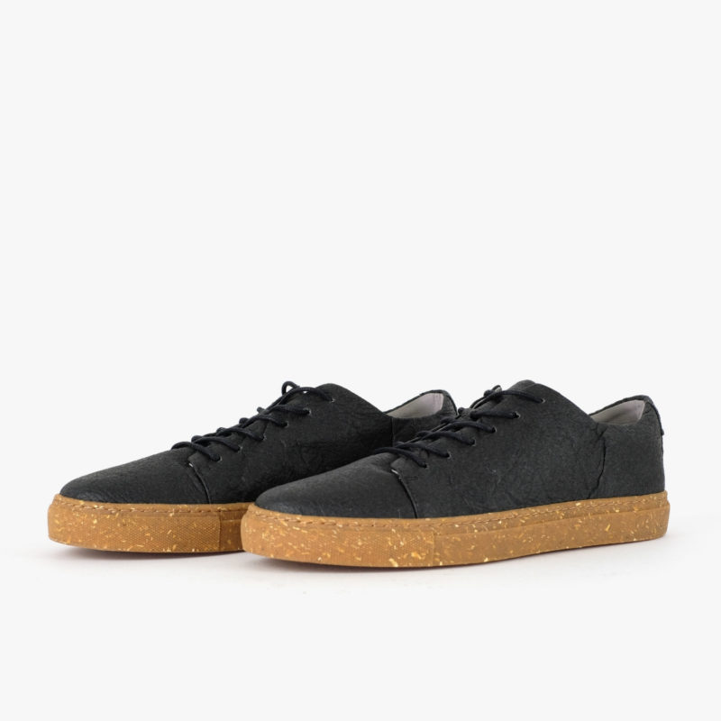 pinatex sneaker schwarz sorbas shoes