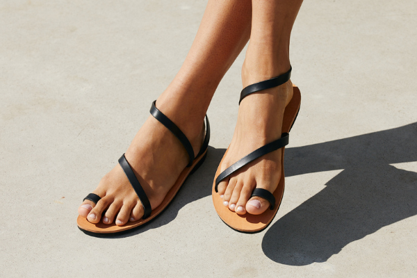 Sandalen Leder Damen Griechenland Sommer nachhaltig