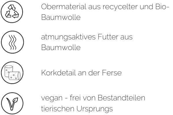 vegane sneaker ungefüttert materialien baumwolle