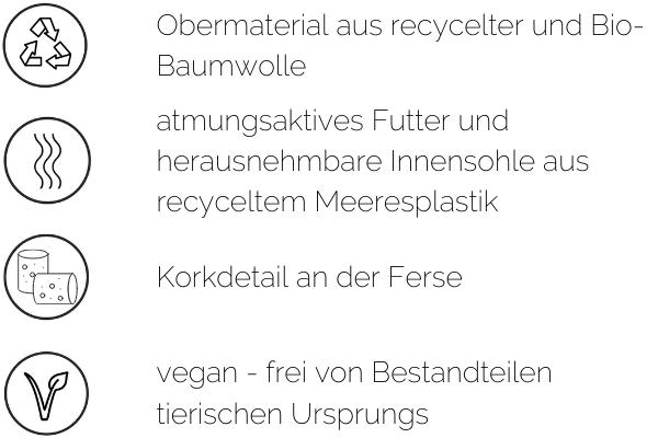 vegane sneaker materialien baumwolle