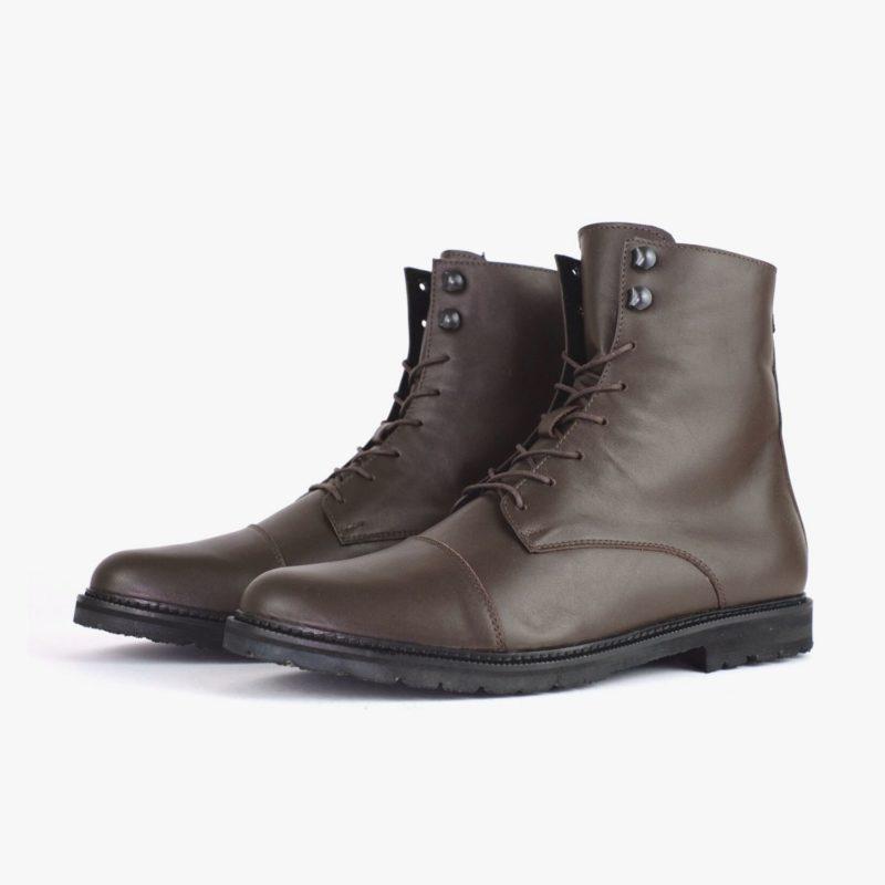 dunkelbraune boots braun herren leder