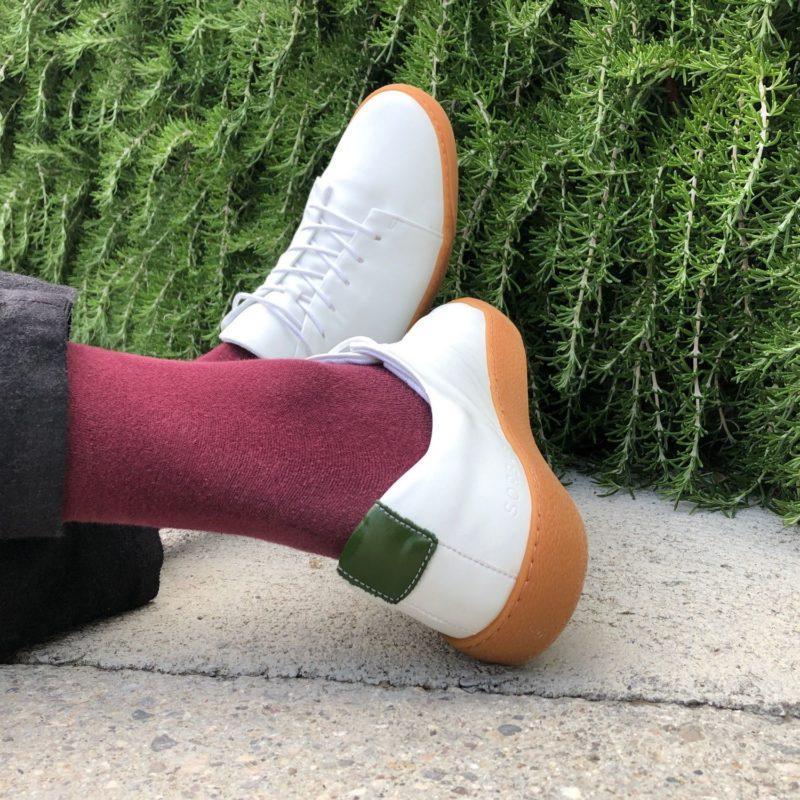 kaktus sneaker weiß grün quadrat vegan