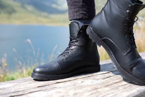 nachhaltige stiefel schwarz damen herren